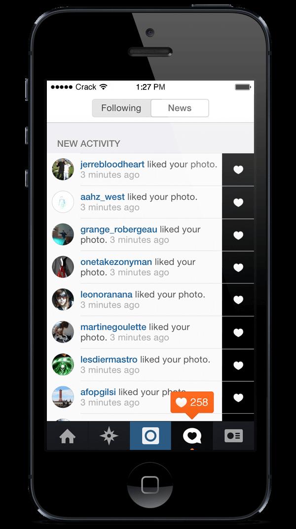 Polubienia zdjęć instagram