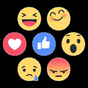 facebook reakcje