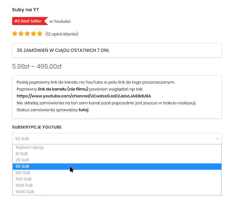 jak kupić subskrypcje na YouTube