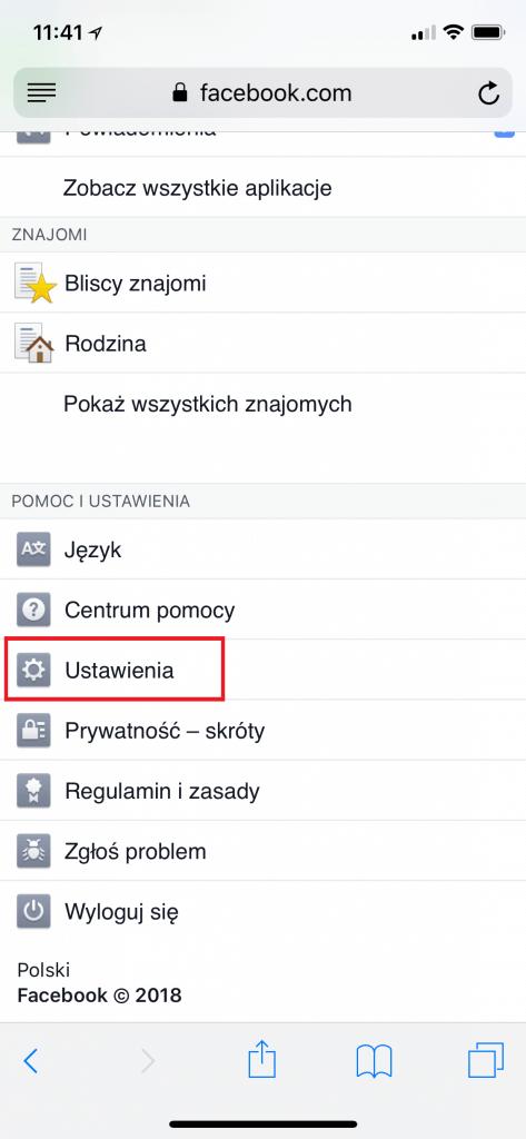 Zmiana ustawień prywatności na Facebooku z telefonu