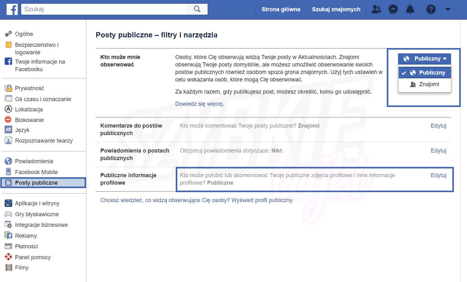 jak zmienić ustawienia prywatności na Facebooku z komputera