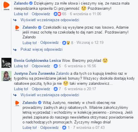 komunikacja marki z fanami na facebooku